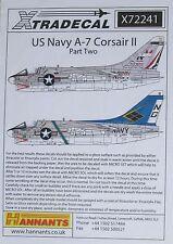 Xtradecal 1/72 X72241 us navy A-7 corsair decal set part 2