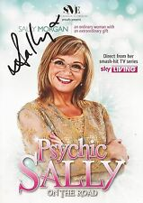 PSYCHIC SALLY: SALLY MORGAN SIGNED 8x6 'PSYCHIC SALLY ON THE ROAD'TOUR FLYER+COA
