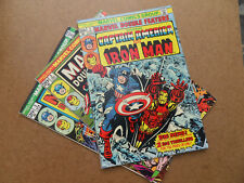 Marvel Double Feature 1 - 3 Run (of 21) Captain America / Iron Man .Marvel 1973