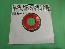 """.38 SPECIAL Like No Other Night b/w Heart's On Fire AM 2831 7"""" 45rpm Vinyl VG+"""