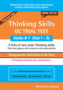 Opportunity Class (OC) Thinking Skills - 5 Sets of Papers  Series #1 (new style)
