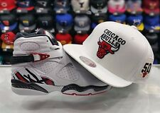 Matching Mitchell & Ness 50th Chicago Bulls snapback Hat for Jordan 8 ALTERNATE