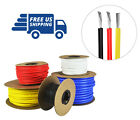 24 AWG Silicone Wire Spool Fine Strand Tinned Copper 50' each Red, Black, Yellow