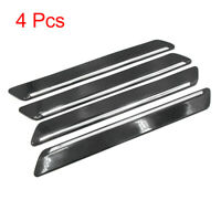 4Pcs Black Car Side Door Edge Guard Protector Strip Anti Scratch Protection