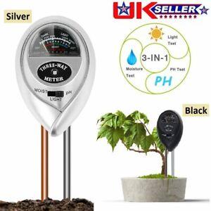3-in-1 Soil pH Tester Moisture Light Meter Test Kit For Garden Lawn Plant Flower