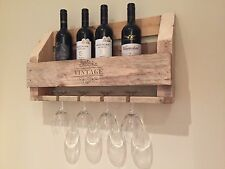 Recycled handcrafted pallet wine rack x 4 bottle