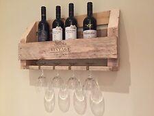 Reciclado Artesanal De Estante del vino X 4 Botella