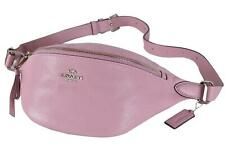 NEW Coach F48738 Tulip Pink Textured Leather Belt Waist Bag Sling