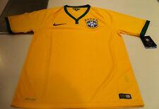 Team Brasil Brazil Home 2014 World Cup Soccer Home Jersey SS M Men's Yellow