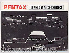 Pentax K PK Lens Range + Accessories Instruction Book