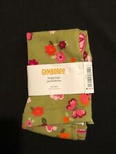 NWT Gymboree Girls Butterfly Girl Green Floral Leggings 100% Cotton Size 3-6 M