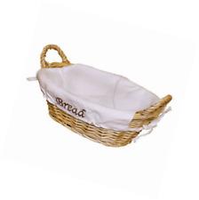JVL Oval Split Willow Lined Bread Basket with Loop Handles