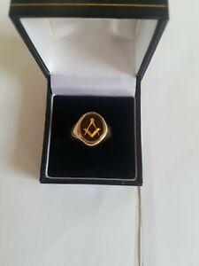 Carnelian Masonic Ring 9ct Yellow Gold