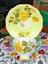 ROYAL STANDARD SUNSET PATTERN YELLOW ROSES TEA CUP AND SAUCER