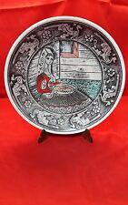 piatto in ceramica costume sardo anni 50 Dorgali Nuoro Barbagia