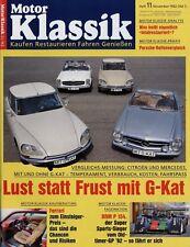 Motor Klassik 11/92 1992 BRM P154 Porsche 356 VW 411 Tornax Rex Hanomag 1,3