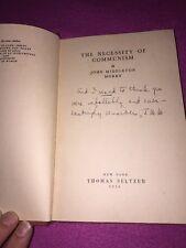 The Necessity Of Communism, John Middleton Murry 1st Ed Signed