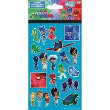 PJ Masks Pajama Hereos Sticker Sheets, Party/Loot/Stocking Fillers, 4 sheets