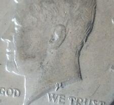 1974 D Kennedy Half Dollar Double Ear & Weak Designers Initials Ghost Error