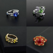 set of 4pcs Harry Potter Hogwarts Slytherin Gryffindor Hufflepuff Ravenclaw Ring