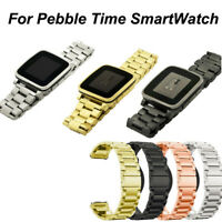 Genuine Stainless Steel Bracelet Watch Band Strap For Pebble Time SmartWatch NEW