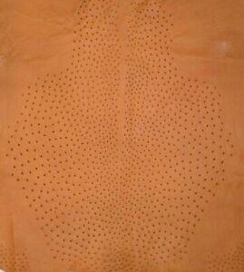 Ostrich Leather Hide, Chestnut Color (%100 Genuine Natural skin)
