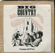 "BIG COUNTRY - FIELDS OF FIRE - 7"" 45 PICTURE SLEEVE RECORD"