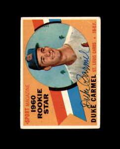 Duke Carmel Hand Signed 1960 Topps Rookie Star St. Louis Cardinals Autograph
