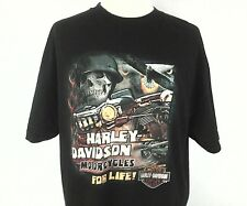 EUC Harley Davidson For Life Temecula California Mens Skull T Shirt Black XL