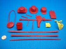 Marx (ARMY RED  ACCESSORY LOT) Johnny West Best Of The West Maddox Custer Horse