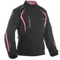 Oxford Dakota Women's Waterproof Textile Motorcycle Jacket Black & Pink