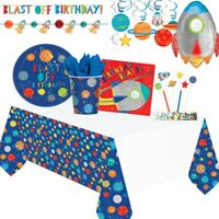 Space Rocket Blast Off Party Tableware, Decorations and Balloons