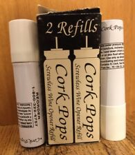 Cork Pops Refill Corkscrew Replacement Cartridges 2 Pack CO2 Wine Bottle Opener