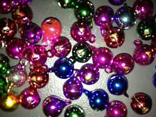 10 sonagli metallici colorati misti 7 mm