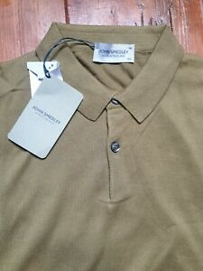JOHN SMEDLEY RHODES Mens Willow Green Polo Shirt Size XXL BNWT RRP £130