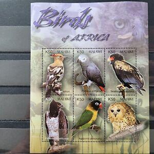 Malawi 2003/  Birds of Africa -Eurasian hoopoe,Martial Eagle ... / 6vms