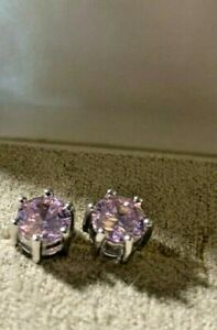 Estate Pink Sapphire Stud Earrings.  1ct. Each