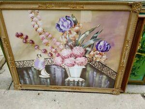 "Zara Ellwood Vintage 1930's Painting Artwork 37.5"" x 30"" New York Artist Signed"