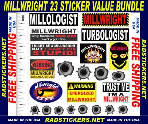 Millwright sticker bundle, hard hat stickers, SH-45