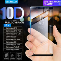 10D For Samsung Galaxy S8 S9 Plus Note 8 9 Screen Protector Proof Tempered Glass