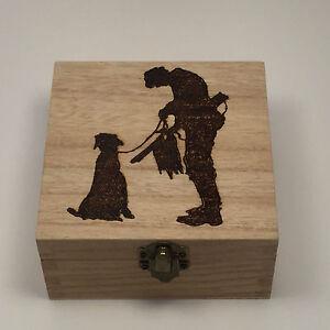 Personalised Wooden Hunting Keepsake Box pyrography