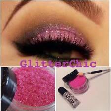 Purpurina Sombra De Ojos Rosa con Fijador Gel y aplicación Vara 10g Bote