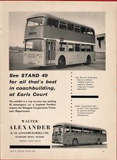 Old Magazine Advert ~ Walter Alexander Coachbuilders - Glasgow: E Scottish: 1964