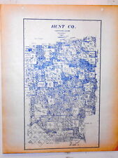 Old Hunt County Texas Land Office Owner Map Greenville Caddo Mills Wolfe City