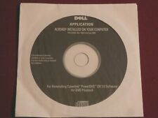 NEW SEALED Dell CD to reinstall Cyberlink PowerDVD DX7.0 Software for Playback