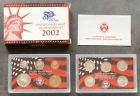 USA 2002 SILBER Proof Set San Francisco PP polierte Platte State Quarter 1c-$1