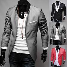 Men's New Stylish Suit Casual Slim Fit Button Formal Suit Blazer Coat Jacket Top