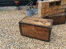 Fantastic Lovelace Zinc Lined Pine Trunk Chest Storage Bedroom Coffee Table Lamp