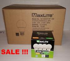Lot Of 48 Maxlite 9.5w LED Bulb 60 watt replace A19 Warm White 2700K Light 60w