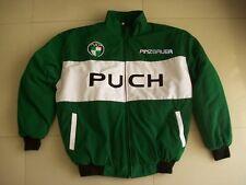 Nuevo Puch Pinzgauer fan-chaqueta verde oscuro blanco Jacket Veste jas giacca Jakka